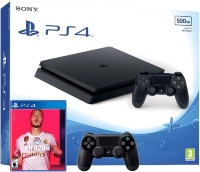 Sony PlayStation 4 Slim (500Gb) + FIFA 20 + 2ой геймпад