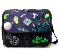 Сумка Difuzed: Rick And Morty Space AOP With Flock Print Messengerbag MB071280RMT