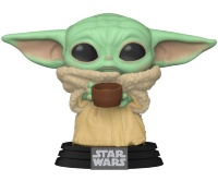 Фигурка Funko POP! Bobble: Star Wars: Mandalorian: The Child w/cup 49933