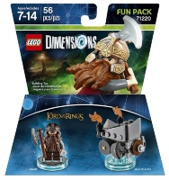 LEGO Dimensions Fun Pack (71220) - Lord of the Ring (Gimli, Axe Chariot)